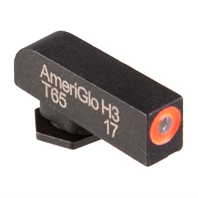 Ameriglo Glock Green Tritium Orange Round Outline Front Sights - Green Tritium Orange Round Outline Front .165