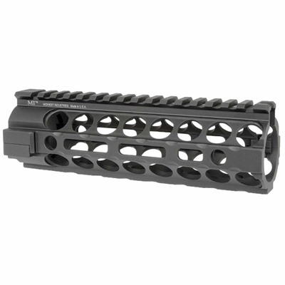 Midwest Industries Ar-15 2-Piece Handguards Free Float M-Lok - 2-Piece Handguard Free Float Aluminum Carbine Length Black