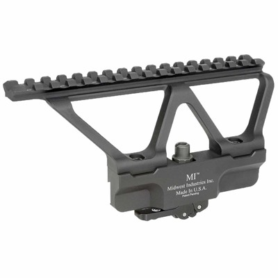 Midwest Industries Ak-47 Aluminum Akg2 Side Mount 1-Piece Tactical Base - Picatinny Rail Ak-47 Side Mount