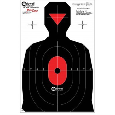 Caldwell Shooting Supplies Silohouette Dual Zone Targets - Silhouette Dual Zone Target 25pk