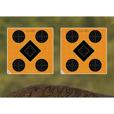 Caldwell Shooting Supplies Orange Shooting Spots - 1   Orange Shooting Squares 12 Sheets (216 Ct)