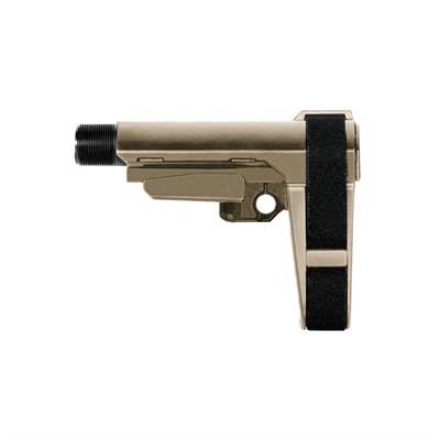 Sb Tactical Sba3 Pistol Stabilizing Brace 5-Position Adjustable - Sba3 Pistol Stabilizing Brace 5-Position Adjustable Fde