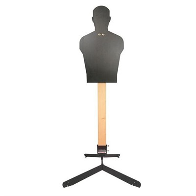 Challenge Targets Rifle Full Size Human Silhouette Target - Rifle Full Size Human Silhouette Static Stand