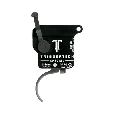 Triggertech Remington 700 Special Triggers - Remington 700 Special Trigger Curved Black