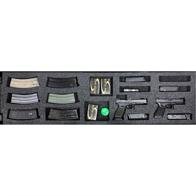 Gunformz Ar-15 Pelican 1750 Gun Case Foam Inserts - Ar-15 Pelican 1750 V3 Bottom Layer Foam Insert