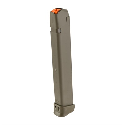 Glock Model 17/34 9mm 33-Round Magazines - Magazine Fits 17/34 9mm 33-Rd Polymer Od Green