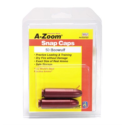 A-Zoom Snap Caps Blue Value Packs - 50 Beowulf Snap Cap Blue 2pk