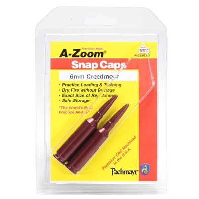A-Zoom Snap Caps Blue Value Packs - 6mm Creedmoor Snap Cap Blue 2pk