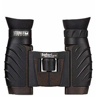 Steiner Optics Safari Ultrasharp Binoculars - 8x22mm Binoculars Matte Black