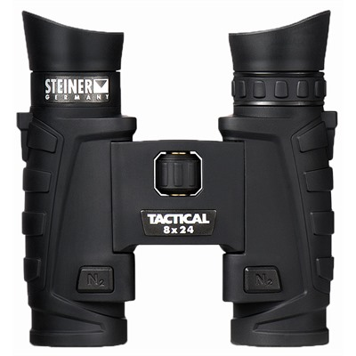 Steiner Optics T824 8x24mm Tactical Binoculars - 8x24mm Black Tactical Binoculars