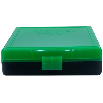 Berrys Manufacturing 100 Round Ammo Boxes Z Green 380 9mm 100 Round Ammo Box