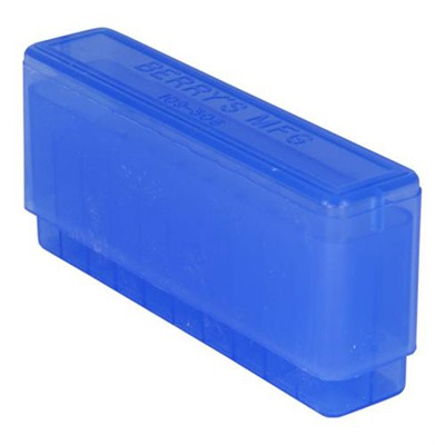 Berrys Manufacturing 20 Round Slip-Top Rifle Ammo Boxes - Blue 308 Family 20 Round Slip-Top Ammo Box