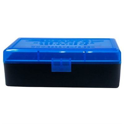 Berrys Manufacturing 50 Round Ammo Boxes Blue 44 Magnum 50 Round Ammo Box