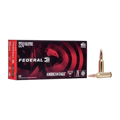 Federal American Eagle Ammo 224 Valkyrie 75gr Tmj - 224 Valkyrie 75gr Total Metal Jacket 20/Box