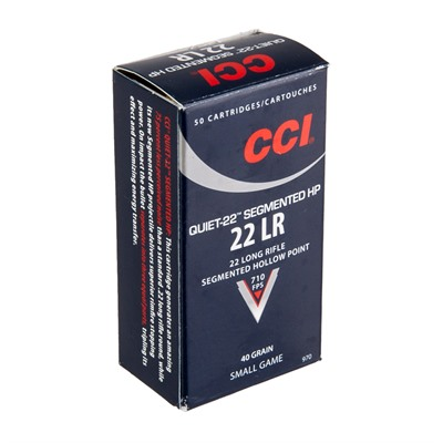 Quiet 22 Ammo 22 Long Rifle 40gr Segmented Hp Subsonic - 22 Long Rifle 40gr Segmented Hp 50/Box