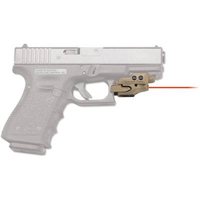 Crimson Trace Corporation Rail Master Universal Laser Sight - Rail Master Universal Red Laser Coyote Tan