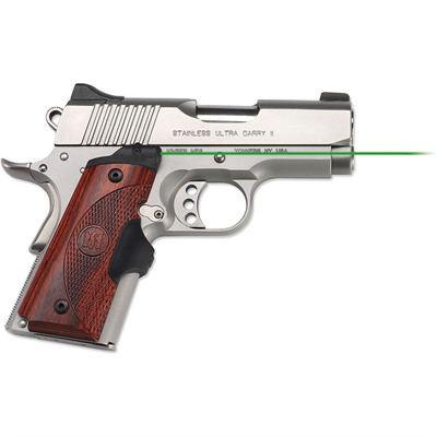 Crimson Trace Corporation 1911 Compact Rosewood Master Series Lasergrips 1911 Compact Master Series Lasergrips Green Laser Rosewood USA & Canada