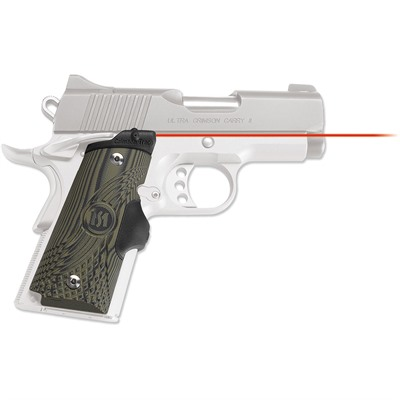 Crimson Trace Corporation 1911 Compact. G10 Green/Black Master Series Lasergrips 1911 Comp Master Series Lasergrips Red Laser G10 Grn/Blk USA & Canada