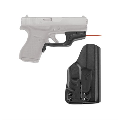 Crimson Trace Corporation Glock 42, 43 Laserguard With Blade-Tech G42 Iwb Holster - Glock 42, 43 Laserguard Red Laser With G42 Iwb Holster