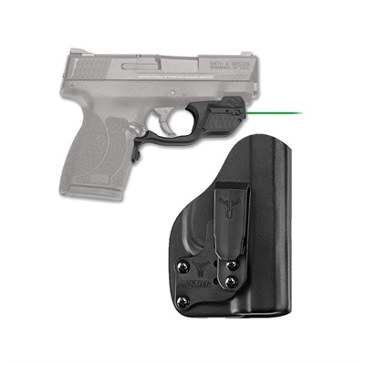 Crimson Trace Corporation Smith & Wesson M&P 45 Shield Laserguard With Iwb Holster - Smith & Wesson M&P Shield 45 Laserguard Grn W/Iwb Holster