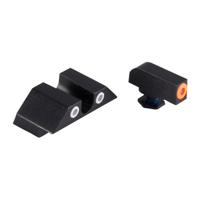 Night Fision Perfect Dot Tritium Night Sights For Glock - Glock 17/19/33/46 Orange Front & Clear U Notch Rear