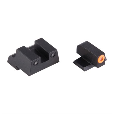 Night Fision Perfect Dot Tritium Night Sights For Canik - Canik Tp9sf Elite Orange Front & Black Square Notch Rear