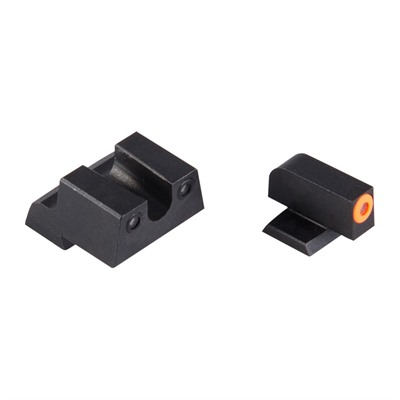 Night Fision Perfect Dot Tritium Night Sights For Canik - Canik Tp9sf Elite/Tp9sa Orange Front & Black U Notch Rear
