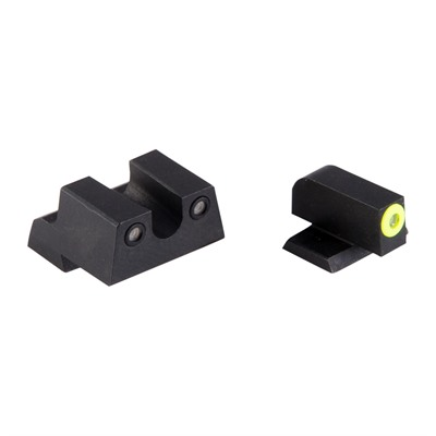 Night Fision Perfect Dot Tritium Night Sights For Canik - Canik Tp9sf Elite/Tp9sa Yellow Front & Black U Notch Rear