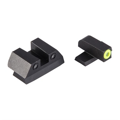 Night Fision Perfect Dot Tritium Night Sights For Sig Sauer - Sig P Series 9mm/357 Yellow Front & Blk Square Notch Rear
