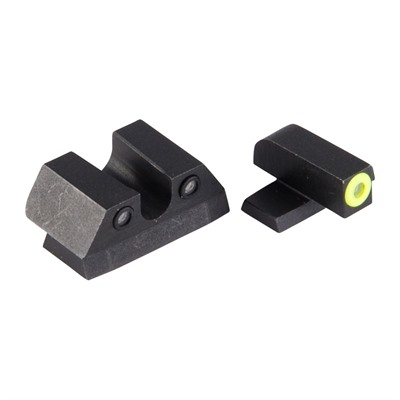 Night Fision Perfect Dot Tritium Night Sights For Sig Sauer - Sig P Series 9mm/357 Yellow Front & Black U Notch Rear