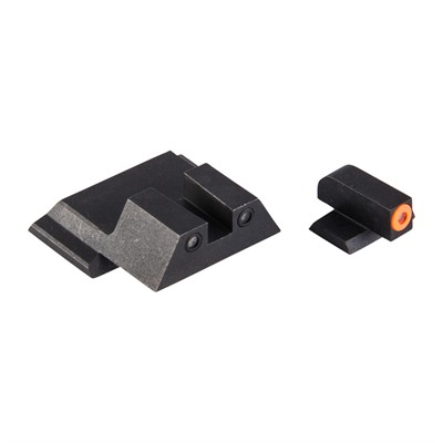 Night Fision Perfect Dot Tritium Night Sights For Smith & Wesson - S&W M&P M2.0, Sd9/40 Orange Front & Blk Square Notch Rear