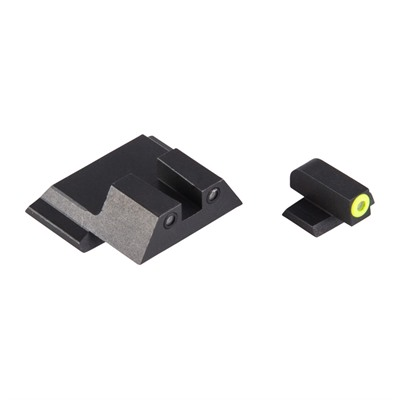 Night Fision Perfect Dot Tritium Night Sights For Smith & Wesson - S&W M&P M2.0, Sd9/40 Yellow Front & Blk Square Notch Rear
