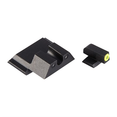 Night Fision Perfect Dot Tritium Night Sights For Smith & Wesson - S&W M&P M2.0, Sd9/40 Ve Yellow Front & Blk U Notch Rear