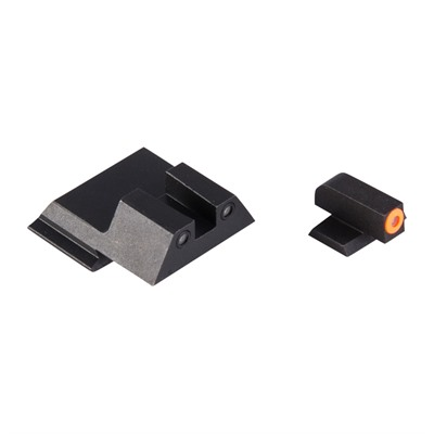 Night Fision Perfect Dot Tritium Night Sights For Smith & Wesson - S&W M&P Shield Orange Front & Black Square Notch Rear