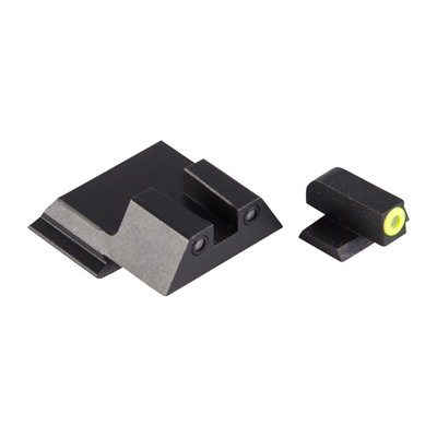 Night Fision Perfect Dot Tritium Night Sights For Smith & Wesson - S&W M&P Shield Yellow Front & Black Square Notch Rear