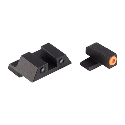 Night Fision Perfect Dot Tritium Night Sights For Springfield - Xd, Xdm, Xd Mod 2 Orange Front & Black Square Notch Rear
