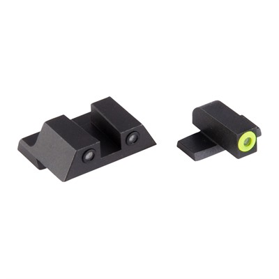 Night Fision Perfect Dot Tritium Night Sights For Springfield - Xd, Xdm, Xd Mod 2 Yellow Front & Black Square Notch Rear