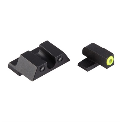 Night Fision Perfect Dot Tritium Night Sights For Springfield - Xd, Xdm, Xd Mod 2 Yellow Front & Black U Notch Rear