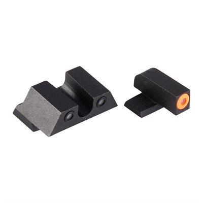 Night Fision Perfect Dot Tritium Night Sights For Springfield - Xd-S, Xd-E Orange Front & Black U Notch Rear