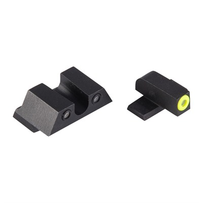Night Fision Perfect Dot Tritium Night Sights For Springfield - Xd-S, Xd-E Yellow Front & Black U Notch Rear