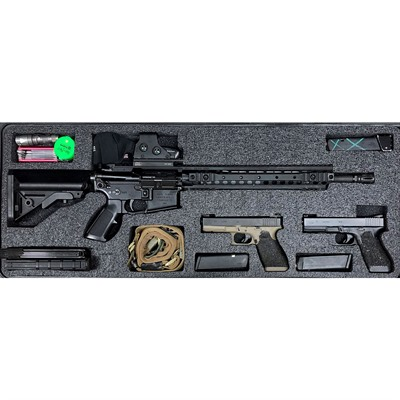 Gunformz Ar-15 Pelican 1700 Gun Case Foam Inserts - Ar-15 Pelican 1700 V3 Top Layer Foam Insert