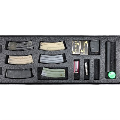 Gunformz Ar-15 Pelican 1700 Gun Case Foam Inserts - Ar-15 Pelican 1700 V1 Bottom Layer Foam Insert