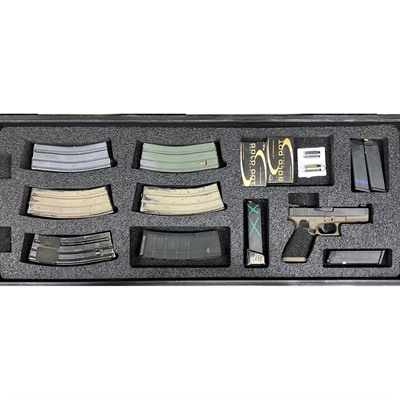 Gunformz Ar-15 Pelican 1700 Gun Case Foam Inserts - Ar-15 Pelican 1700 V2 Bottom Layer Foam Insert