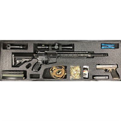 Gunformz Ar-15 Pelican 1720 Gun Case Foam Inserts - Ar-15 Pelican 1720 V2 Top Layer Foam Insert