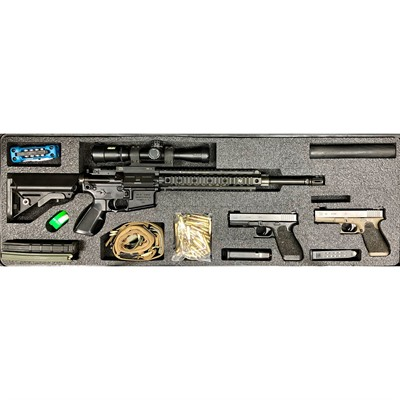 Gunformz Ar-15 Pelican 1720 Gun Case Foam Inserts - Ar-15 Pelican 1720 V3 Top Layer Foam Insert