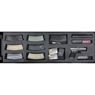 Gunformz Ar-15 Pelican 1720 Gun Case Foam Inserts - Ar-15 Pelican 1720 V2 Bottom Layer Foam Insert