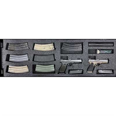 Gunformz Ar-15 Pelican 1720 Gun Case Foam Inserts - Ar-15 Pelican 1720 V3 Bottom Layer Foam Insert