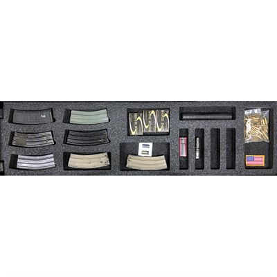 Gunformz Ar-15 Pelican 1750 Gun Case Foam Inserts - Ar-15 Pelican 1750 V1 Bottom Layer Foam Insert