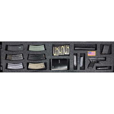 Gunformz Ar-15 Pelican 1750 Gun Case Foam Inserts - Ar-15 Pelican 1750 V2 Bottom Layer Foam Insert
