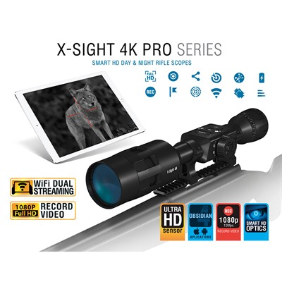Atn X-Sight 4k Pro 5-20x Pro Smart Day/Night Scope - 5-20x Smart Day/Night Scope